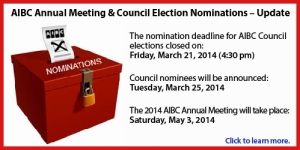 AIBC Annual Meeting & Council Election Nominations Banner