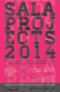 SALA PROJECTS 2014 POSTER