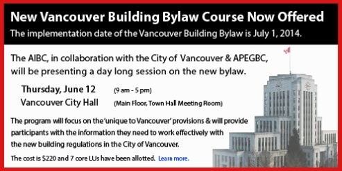 New Vancouver Building Bylaw Course Now Offered - Draft 3