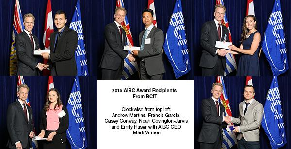 AIBC Awards Presented to 2015 BCIT Graduates