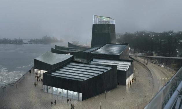A rendering of the winning design for the new Guggenheim Helsinki. Courtesy of Moreau Kusunoki Architectes/Guggenheim