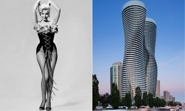 The Toronto towers influenced by Marilyn Monroe's 'iconic hourglass figure'. Courtesy The Guardian, photo by Allstar/David Giral/Alamy