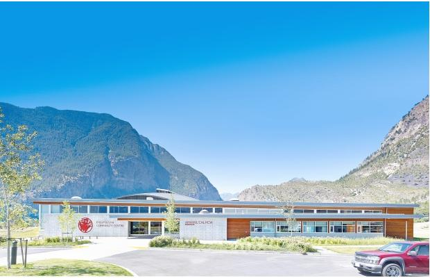 T'it'q'et Community Hall and Health Centre in Lillooet designed by Vancouver's female lead firm, Urban Arts Architecture. Courtesy of Vancouver Sun, photo by Martin Knowles