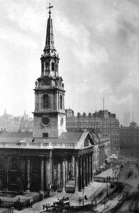 Image: St Martin-in-the-Fields, Trafalgar Square, London 1896. Courtesy of BBC News, Riba