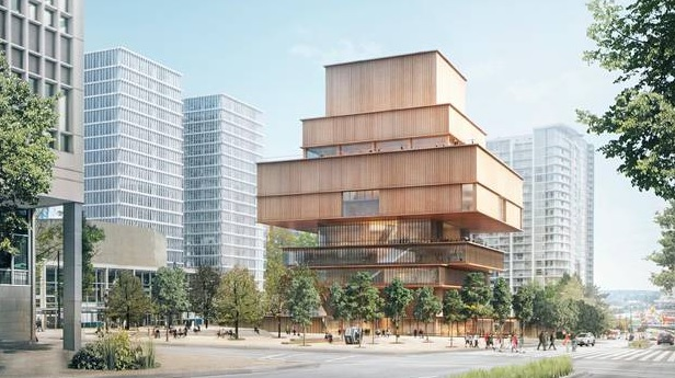 The proposed design for a new Vancouver Art Gallery by Swiss architecture firm Herzog & de Meuron will be wrapped in wood. Courtesy of Herzog & de Meuron, The Globe and Mail