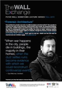 Peter Wall Downtown Lecture Series Fall 2015: