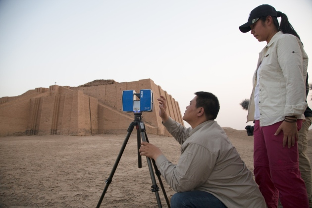 Image: The first monument to be 3-D scanned for the project was the Ziggurat of Ur in Iraq, originally built around 4,000 years ago, and restored in the sixth century B.C. Courtesy of Fast Co.
