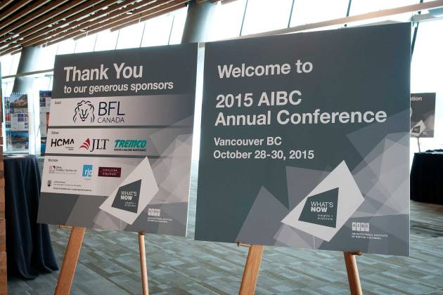 2015 AIBC Annual Conference - Welcome Sign