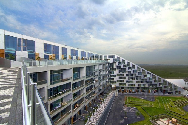 Apartments built for bicycles could have ramps like 8 House in Copenhagen, designed by Bjarke Ingels. Courtesy of BCBusiness, photo by Wojtek Gurak
