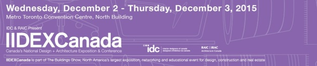 IIDEXCanada Dec 2-3, 2015