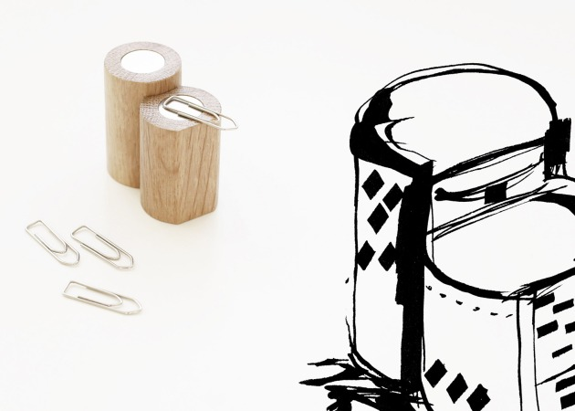 Image: The paper-clip holder references Melnikov House by K.S. Melnikov. Courtesy of Dezeen