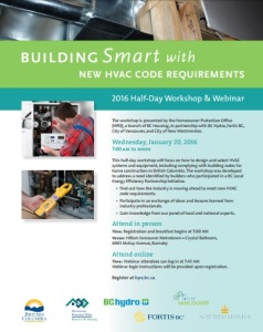 HPO Building Smart with New HVAC Code Requirements Jan 20, 2016