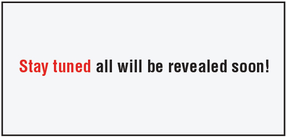 Stay tuned - all will be revealed soon!